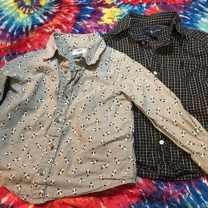 3T button up dress shirts <both>